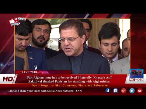 Pak Afghan issue has to be resolved bilaterally  Khawaja Asif & Omar Zakhilwal talk