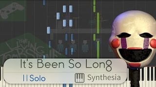 It S Been So Long SOLO PIANO TUTORIAL W LYRICS The Living Tombstone Synthesia HD