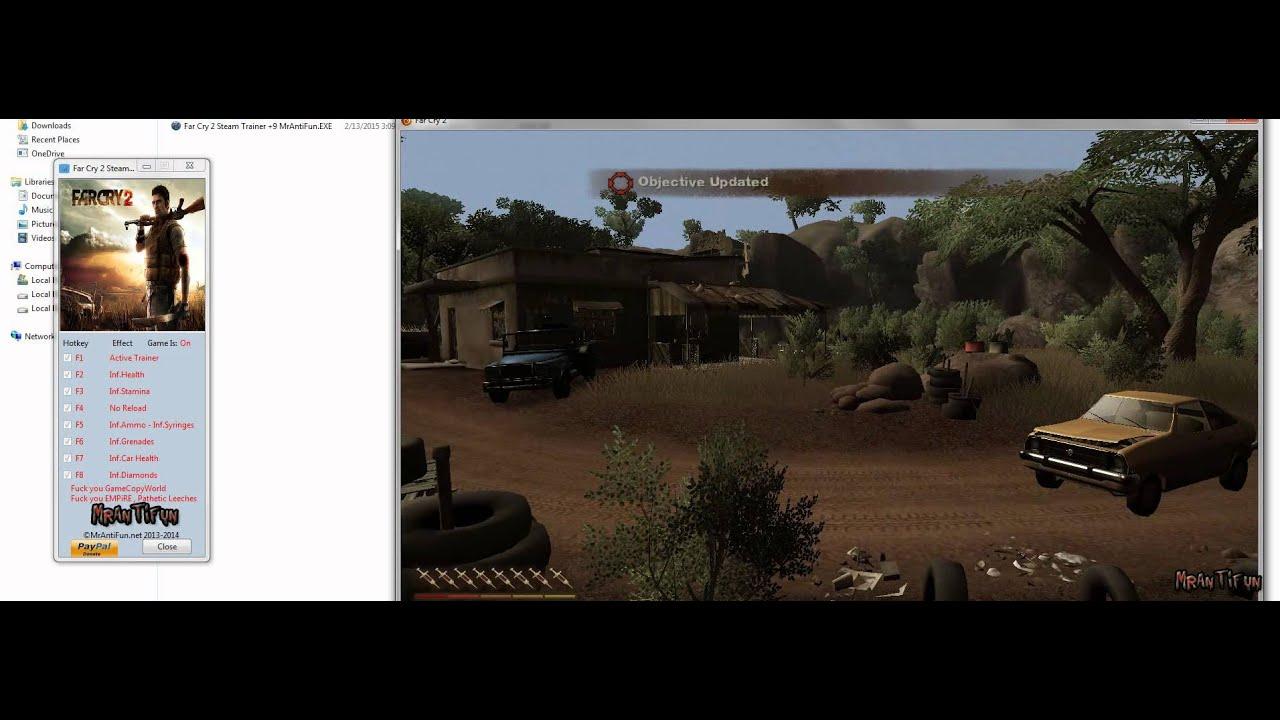 Far Cry 2 Trainer 8 Cheats