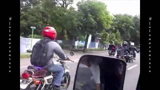 Konvoi Rider CB Jalan Raya Solo - Yogya, Klaten
