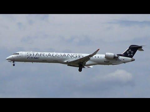 Star Alliance Livery   Adria Airways CRJ-900LR   Landing Frankfurt Airport   S5-AAV