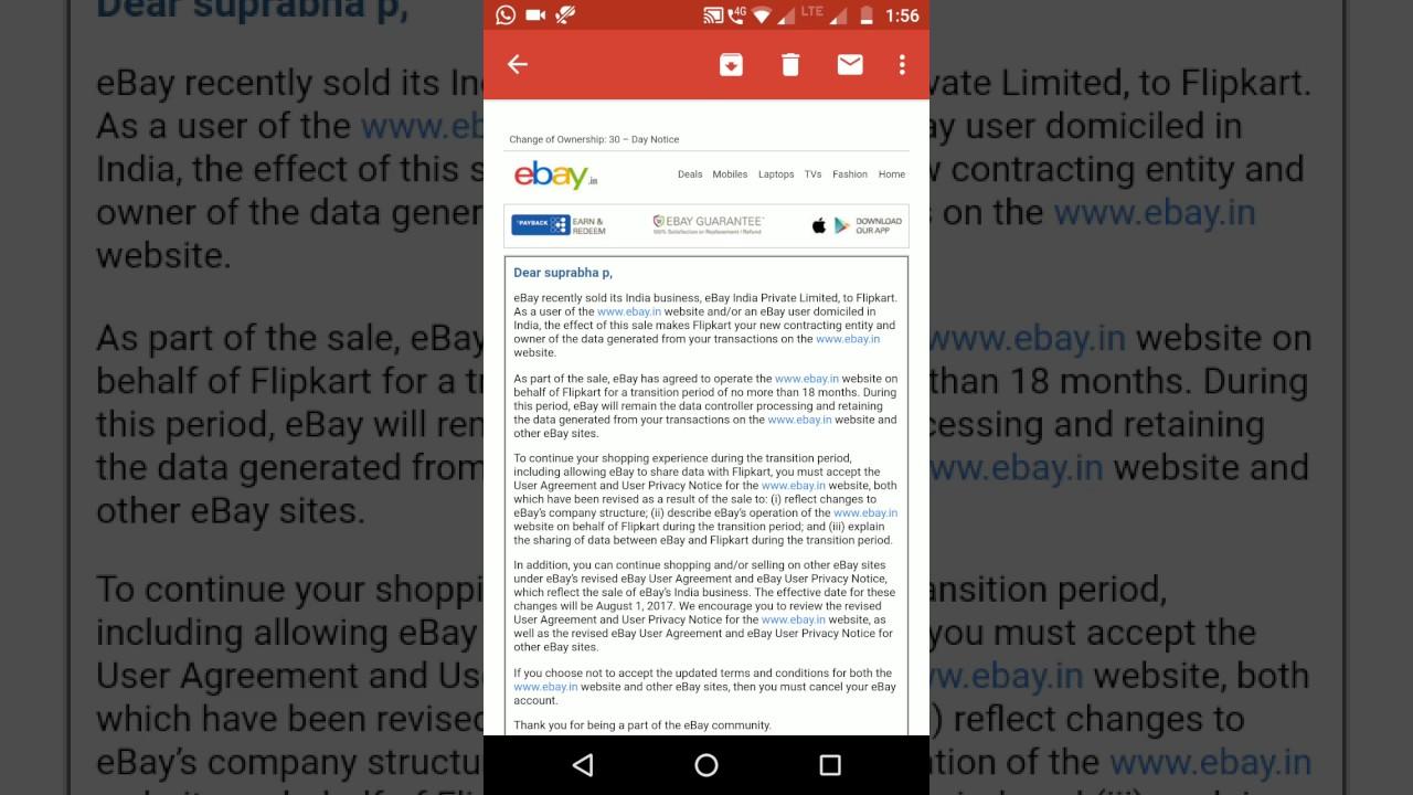 Flipkart eBay: Flipkart acquires eBay\'s India - YouTube