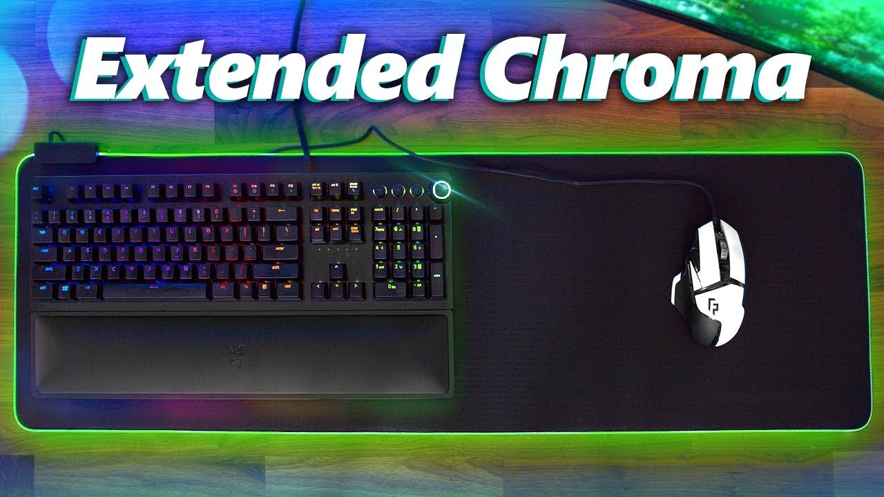 ba3662ce37a Razer Goliathus Extended Chroma Mouse Pad Review! - YouTube