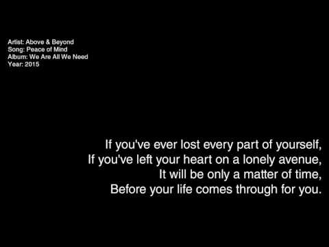 Above & Beyond - Peace of Mind