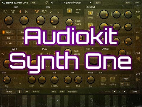 AUDIOKIT SYNTH ONE - Pre-Release Look - This Synth Will Be 100% FREE - iPad Demo