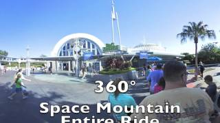 Space Mountain at Disney's Magic Kingdom Entire Ride in 360 Degrees