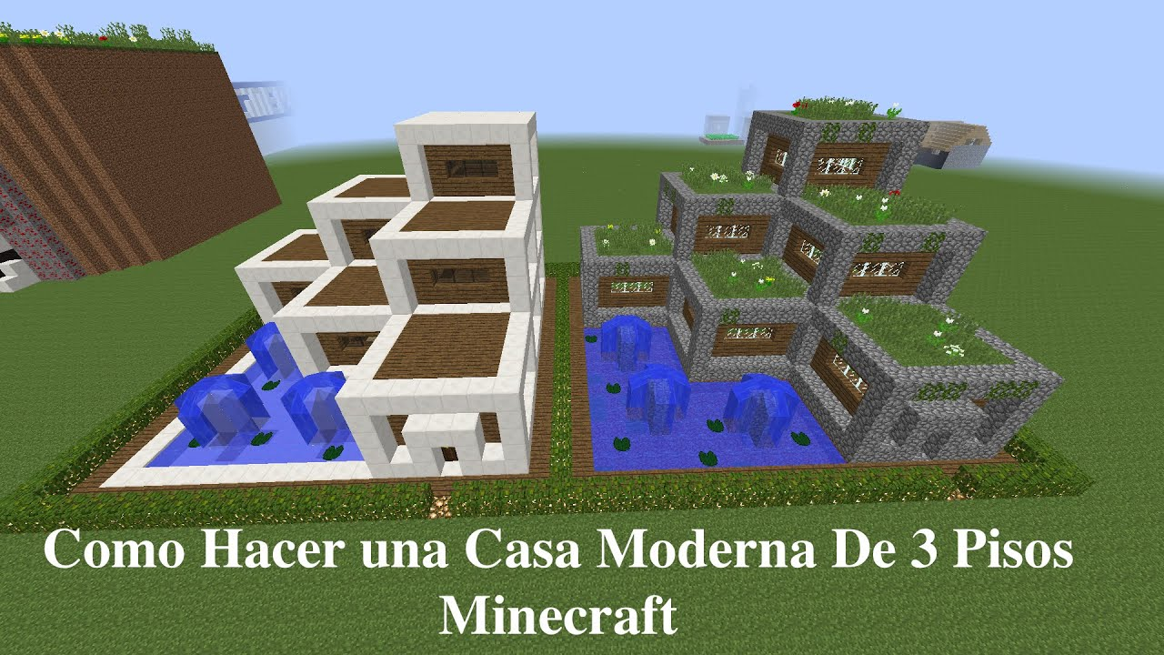 Como hacer una casa cubo en minecraft pt 2 youtube for Casas minecraft planos