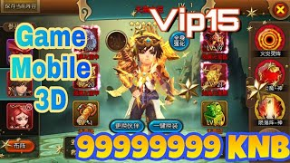 Đại Chúa Tể 3D Lậu | 99999999 KNB + Vip15 | Game Mobile Free All | Review Game - NanhKo GM