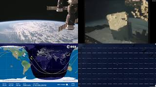 North American Coastlines - NASA/ESA ISS LIVE Space Station With Map - 215 - 2018-10-17