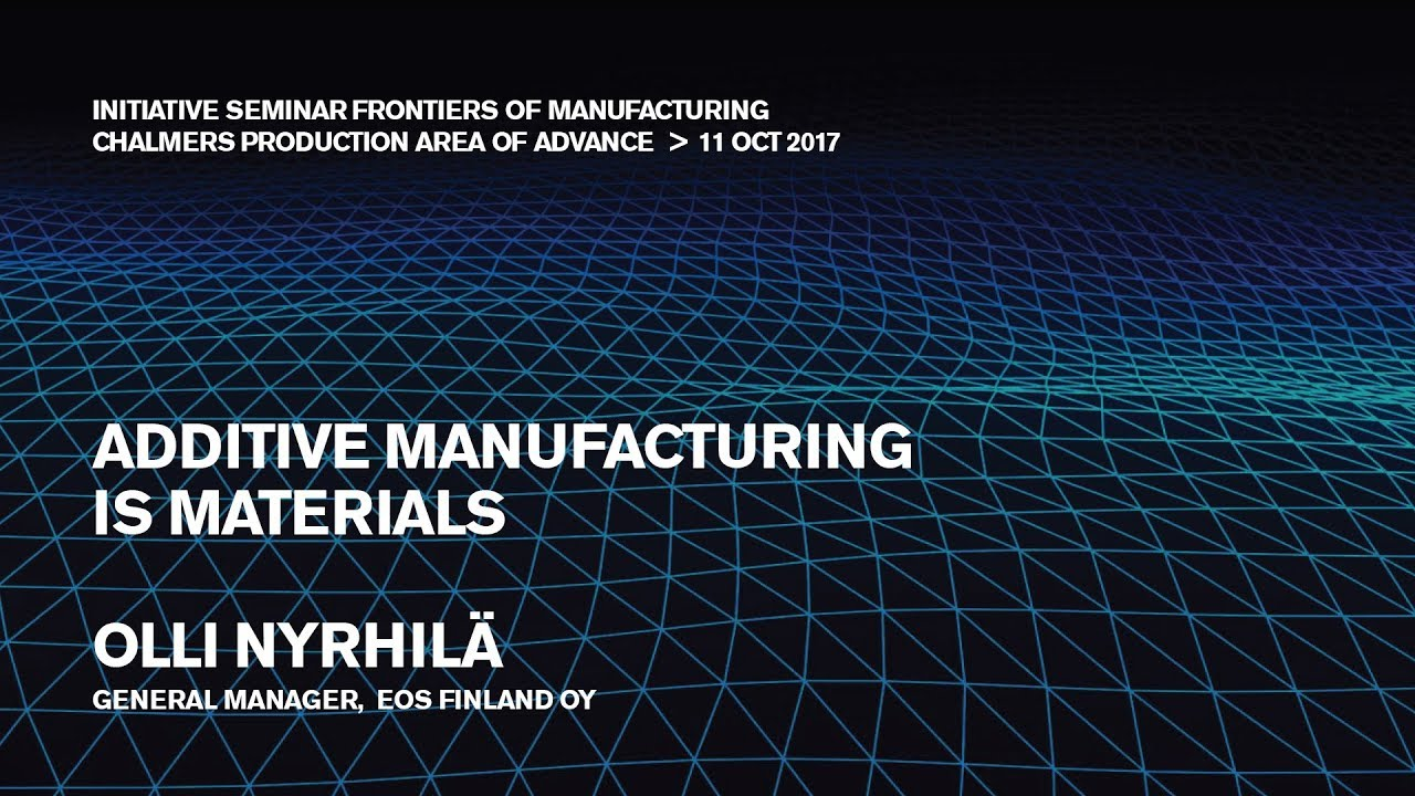 Additive Manufacturing is Materials