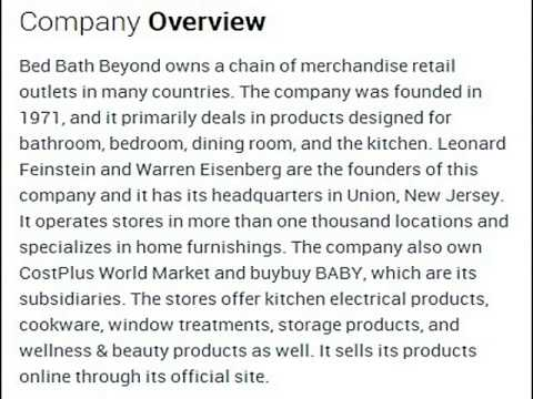bed bath beyond inc corporate office contact information