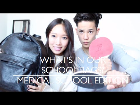 What's in our School Bags | Medical School Edition