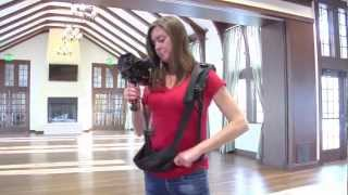 Heather Gavry Demonstrates the Slingmon with the Dougmon cameras support device.