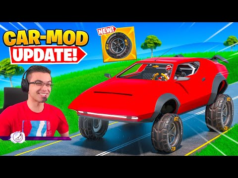 Nick Eh 30 reacts to MODDED CARS in Fortnite!