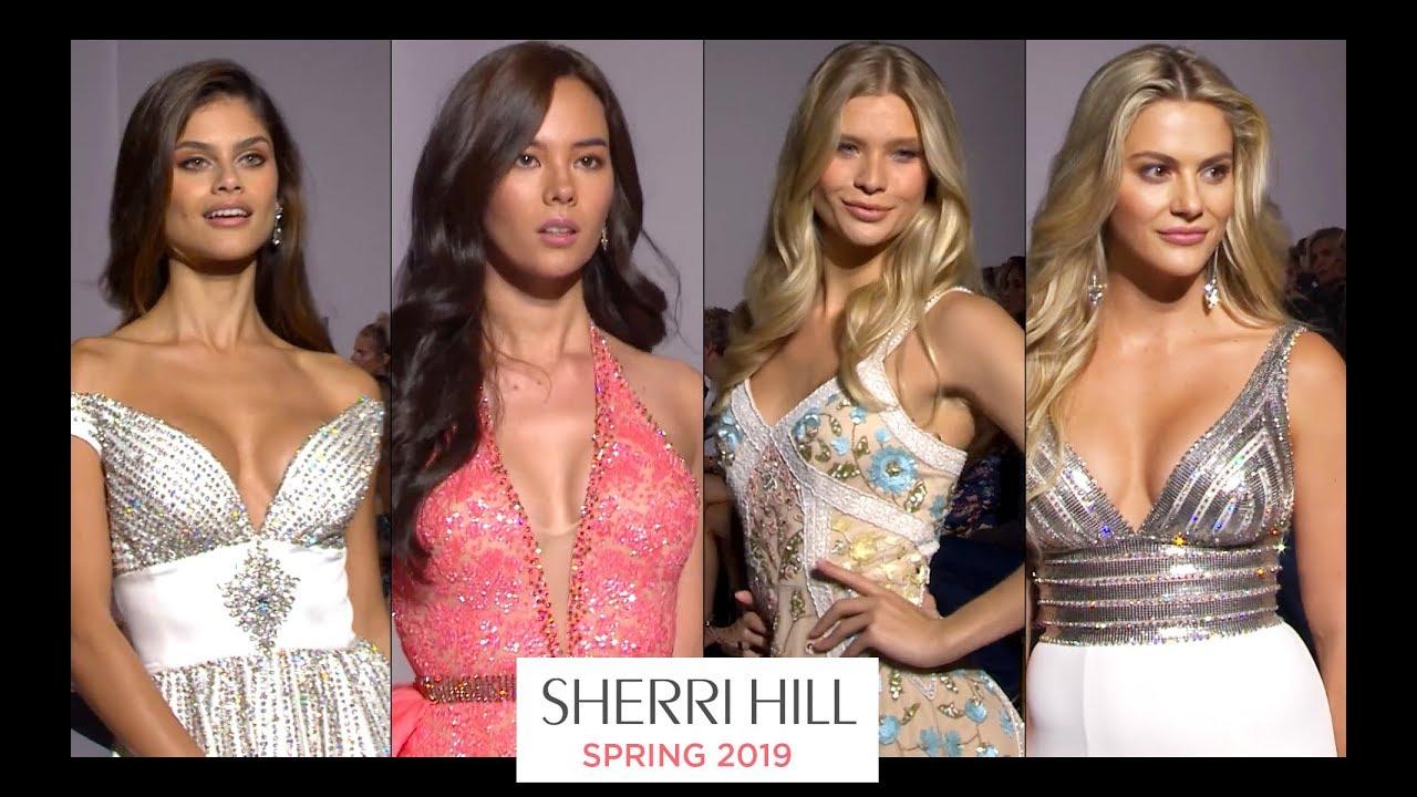 8da2da43fbc6 Sherri Hill Spring 2019 Dresses - Runway Show NY Fashion Week - YouTube