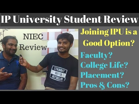 NIEC | IP University Student Review - Placement Faculty College Life