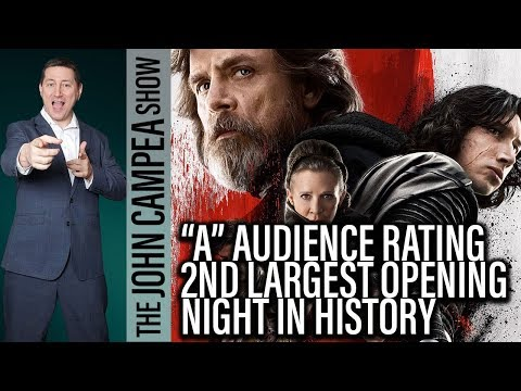 Star Wars The Last Jedi Scores An A Cinemascore And 2nd Largest Opening Ever - The John Campea Show