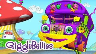 Repeat youtube video The Wheels On The Bus | Nursery Rhymes | GiggleBellies