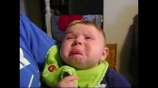 Baby cries when dad sings