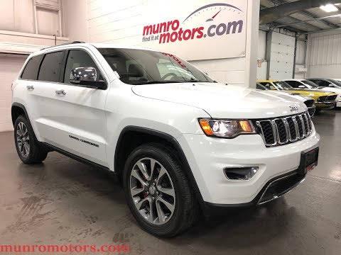 2018 Jeep Grand Cherokee SOLD SOLD SOLD Limited NAV Sunroof Heated Seats and Steering Munro Motors