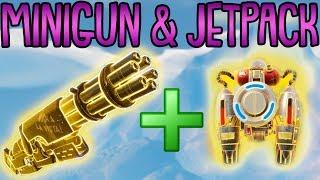 MINIGUN + JETPACK TAKTIK! | (sehr bald entfernt) | Fortnite Battle Royale