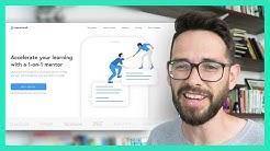 Web Design Process Pt. 3 - Design (Startup landing page)