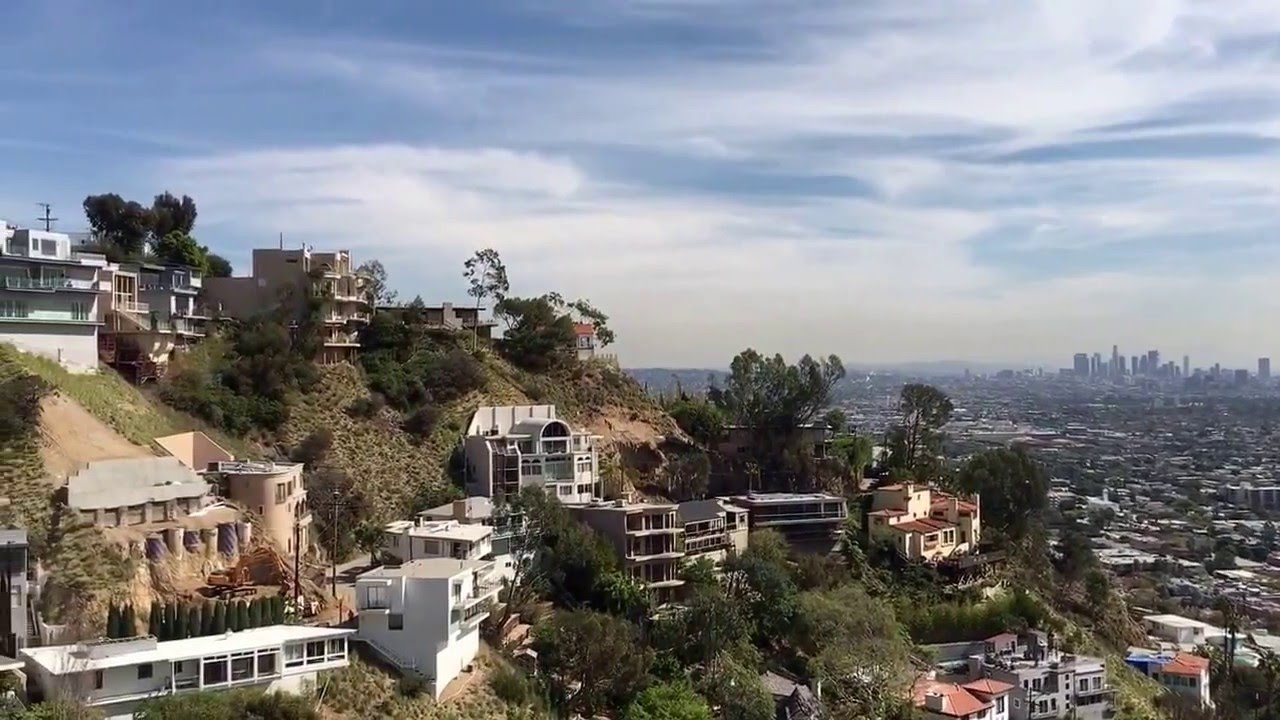previewing homes for sale in the hollywood hills sunset