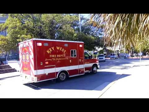 Key West Fire Department Rescue 1 responding