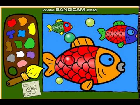 Kırmızı Balık Boyama Ile Renkleri öğreniyorum Bebek şarkıları