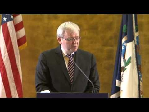 Prime Minister Kevin Rudd Speaking at Georgetown University SFS-Q