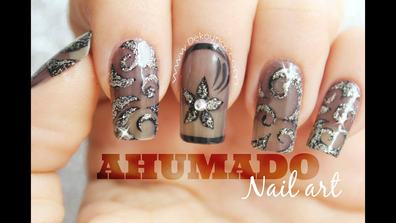 Decoraci n de u as efecto ahumado smoky nail art youtube for Decoracion unas