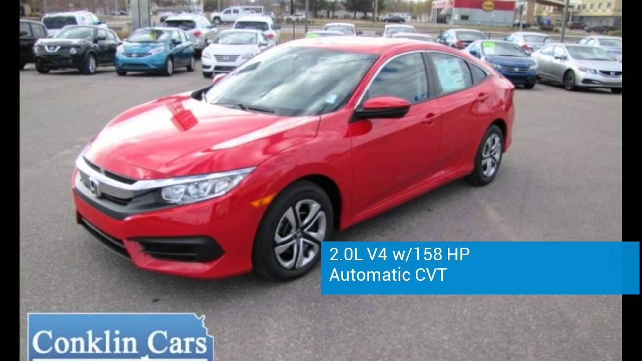 New 2016 Honda Civic   Conklin Cars Hutchinson KS   Wichita KS Area Honda  Dealership