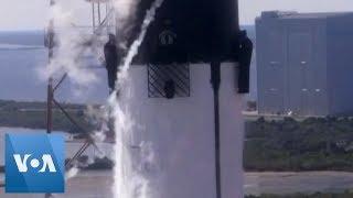 SpaceX Dragon 9 Cargo Craft Blasts Off