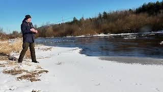 Рыбалка со спиннингом на лесной реке Первый выход в этом году Релакс