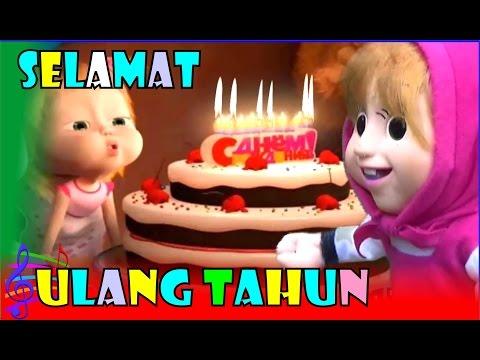 Selamat Ulang Tahun ❤ Lagu Anak Indonesia Populer ❤ Boneka Masha & The Bear