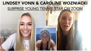 Lindsey Vonn's Virtual Career Day withTennis Champion Caroline Wozniacki
