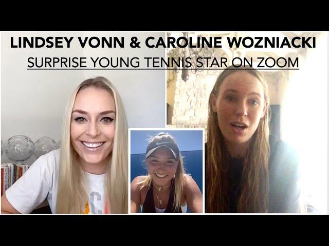 Lindsey Vonn's Virtual Career Day withTennis Champion Caroline Wozniacki