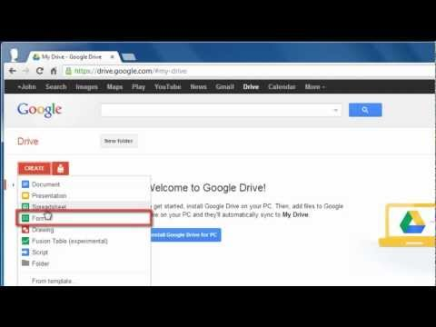 How To Make Google Docs Questionnaire