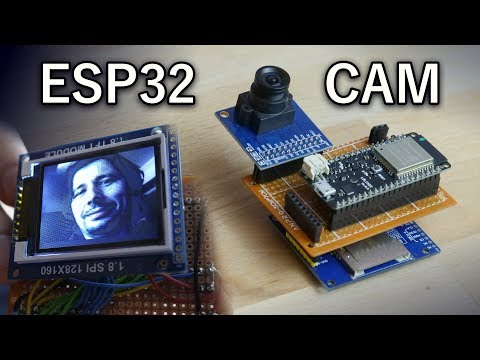 ESP32 with Camera and TFT Display (OV7670, FIFO)