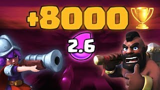 HOG 2.6 FINAL PUSH +8000 TROPHIES - CLASH ROYALE