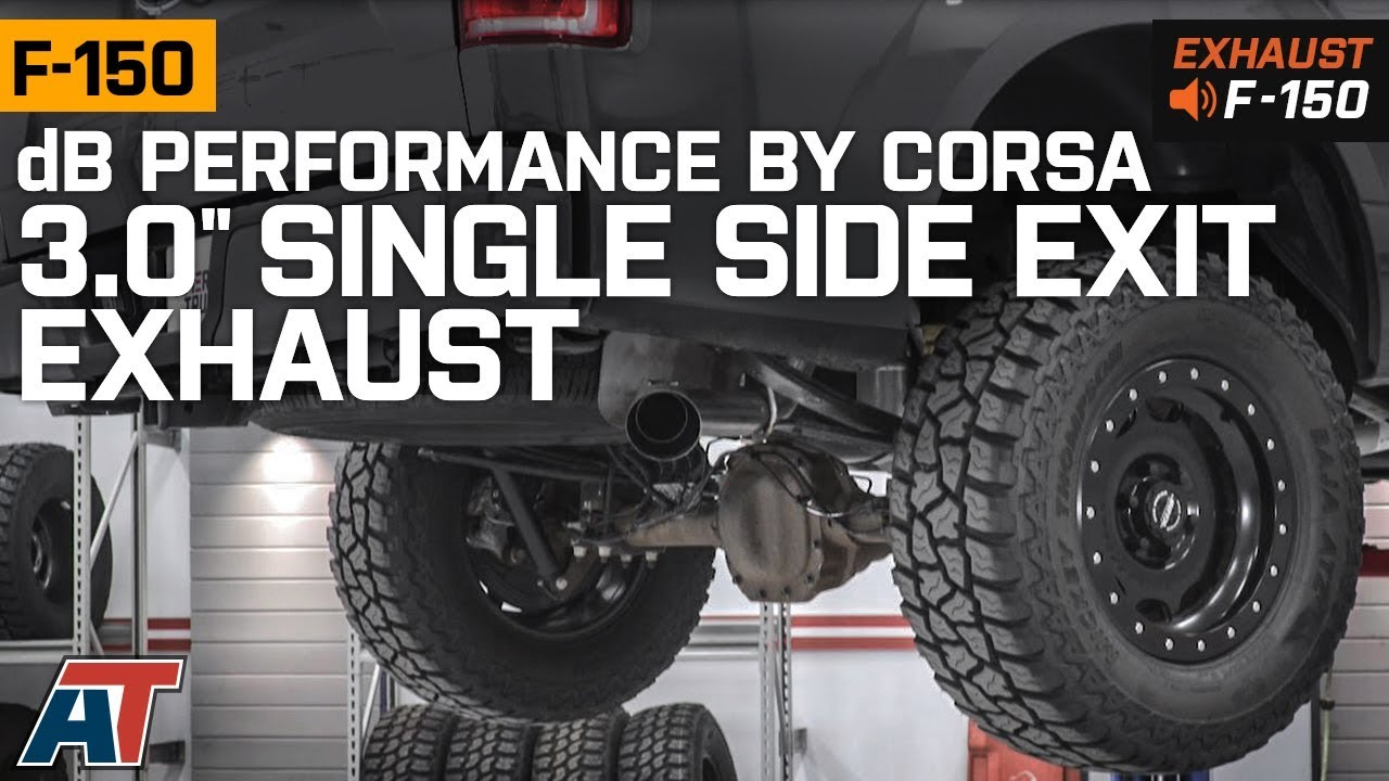 db performance by corsa 3 inch single exhaust system side exit 15 20 5 0l f 150