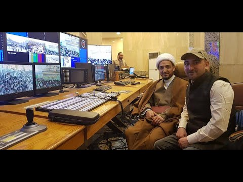 Live From Karbala  Sajjad Kargilli with President ISK Shiekh Nazir Mehdi .