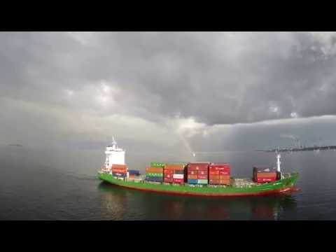Royal Princess Love Boat Horn with reply from another ship filmed on a GoPro