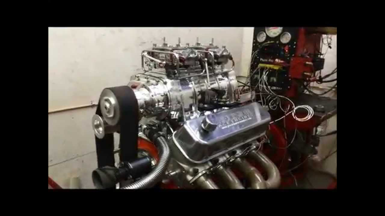 Blown BBC 572 cid 1000hp Dyno Test with 4 5lbs Boost