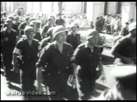Newsreel: UN takes over Suez - 1957
