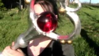 Sailor Moon: Pluto Garnet Orb Time Staff for cosplay