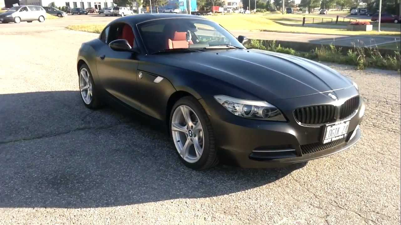 Restyle It Restyleit Ca 2011 Bmw Z4 Matte Black Wrap Youtube