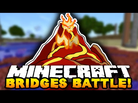 "Minecraft - BRIDGES BATTLE ""VOLCANO!"" #3 - w/ THE PACK!"