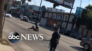 Police kill man wielding machete in Hollywood