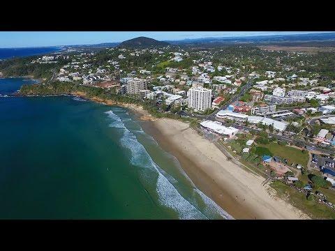 Coolum Beach, Sunshine Coast (aerial video)